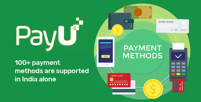100+ payment methods are supported in India alone